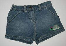 New Crazy 8 Denim Shorts with Colorful Turtle Embroidered Size 12-18 M NWT