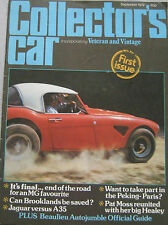 Collector's Car 09/1979 Issue 1 featuring Austin Healey 3000, MG, Austin Seven