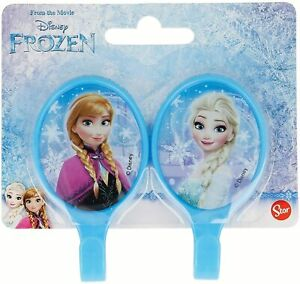 Stor Disney Frozen Set of 2 Oval Plastic Adhesive Hangers Childrens Blue Elsa