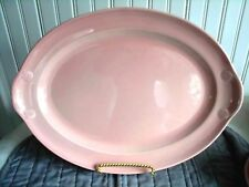 Pink LuRay Pastels Lu-Ray Lug Handled Platter taylor Smith & Taylor *Beautiful