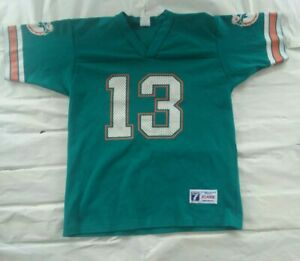 Vintage dan marino Miami Dolphins Logo 7 Youth Jersey Size Xl Great condition