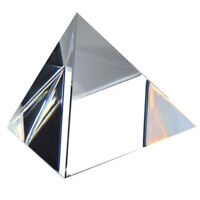 3 Inch Crystal Pyramid Optical Prism Art Craft Statue Home Office Ornament