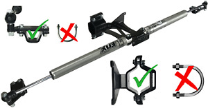 Fox 2.0 Dual Steering Stabilizer for 2017-2021 Ford F250/F350 Super Duty 4WD