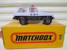 Matchbox Superfast Japan Issue J-8 /MB20B White Range Rover Police Car New Boxed