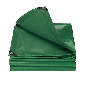 18oz Heavy Duty PVC Canopy Tarp Tent Car Boat Cover Vinyl Coated w/ Grommets
