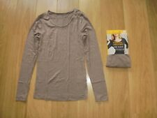 M&S MARKS & SPENCER MOCHA THERMAL HEATGEN LONG SLEEVE TOP UK SIZE 20