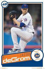 JACOB DEGROM - NEW YORK METS POSTER - 22x34 - MLB BASEBALL 17620