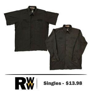 Wrangler Work Shirt 2 Pocket Work Uniform Solid Color Heavy Duty Polyblend #B11