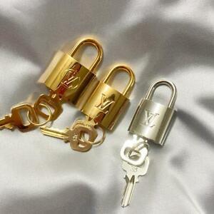 Louis Vuitton LV brass padlock and two keys #315 lock