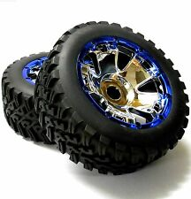 BS501-001 HI501-001 1/5 Scale Monster Truck Wheels Tyres x 2 Chrome Plastic 24mm
