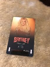 Britney Spears Piece of Me Planet Hollywood Key Card RARE COLLECTOR'S