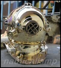 VINTAGE LONDON SCUBA Mark IV DIVERS DIVING HELMET ROYAL SOLID NAVY MARINE