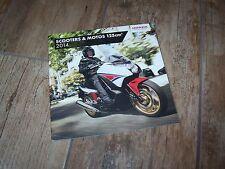 Catalogue /  Original brochure  HONDA Scooters & Motos 125 cm3 2014 //