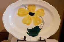 Vintage Hand Painted Serving Platter Heritage Ware By Stetson Yellow Flower