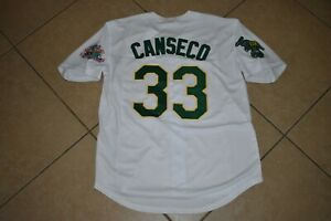 New!! Jose Canseco White A's Oakland Athletics Baseball Jersey Adult Men's XXL