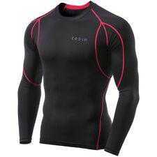 TSLA Tesla MUD11 Cool Dry Long Sleeve Compression Shirt - Black/Red