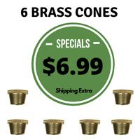 metal smoking pipe Large Brass cone Piece LARGE Cone Pieces