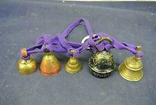 Vintage Brass Bells, Lot Of Five