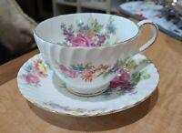 STANLEY FINE BONE CHINA ♡ ENGLAND EST-1875  FLORAL TEA CUP & SAUCER ♡ GORGEOUS