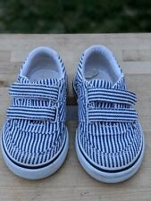 Unisex JANIE AND JACK Striped Shoes Sneakers Size 4 Toddler Tennis Shoe Straps