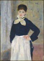Oil painting Pierre Auguste Renoir - A Waitress at Duval's Restaurant girl lady