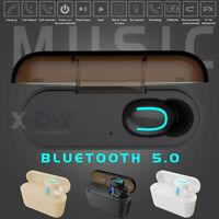 Wireless Headphone Mini TWS Bluetooth 5.0 Headset Stereo Earbuds Auto-pairing