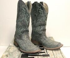 Corral Boots Size 6 LD Black/Turquoise back Cross Western cowboy boots