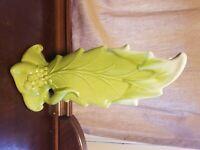 Vintage 1950's Royal Haegar Lime Green Leaf Vase # 1320.