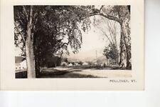Rood Real Photo Postcard Main Street  Poultney  VT