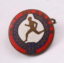 Czechoslovakia SSM Sport Socialist Union of Youth Track Medal Brass Badge Pin