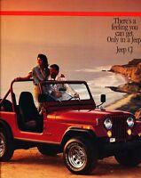 1986 Jeep CJ CJ-7 Renegade Laredo 12-page Original Car Sales Brochure Catalog