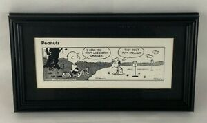 Framed Snoopy Peanuts Golf Comic 1990 United Feature Syndicate by Charles Schulz