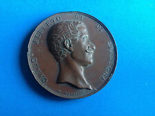 Médaille Cuivre Italienne Profil Charles Albert par GALEAZZI 1847/ Italian Medal