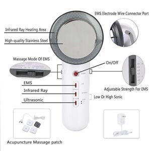 3 In 1 Intelligent Ultrasonic Cavitation EMS Body Slimming Massager Fat Removal