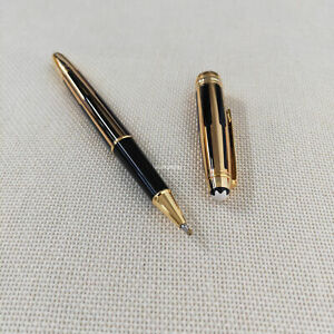 MB163-Meisterstuck Classique Platinum Rollerball Black Gold pen without box