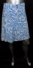 LANE BRYANT NEW Blue/White Print Double Button Pockets Shorts sz 28 28W