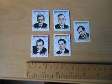 REPUBLIQUE DU BENIN joueur d'échecs timbres-Lasker, Euwe, Alekhine, Capablanca, Tal