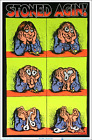 """Stoned Agin' by R Crumb Blacklight Poster - Flocked - 23"""" x 35"""""""