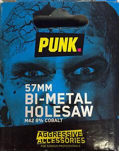 PUNK 57MM BI-METAL HOLESAW M42 8% COBALT *Authorised Distributor for PUNK*