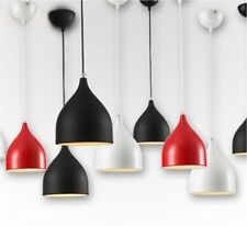 Retro Metal Coolie Pendant Ceiling Light Black,White,Red