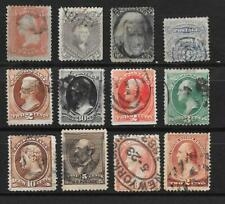 USA interesting lot of 12 different classic stamps in a nice condition see scans