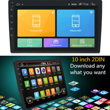 """Car GPS 10.1"""" 1080P 2Din Touch Screen Quad-Core Stereo Radio Player Rotatable"""