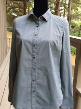 Halogen Women's Button Down Shirt Size Small Stretch Black Check