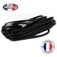 Câble Data Micro USB Noir Rigide Universel 3 mètres pour Smartphone Tablette GPS