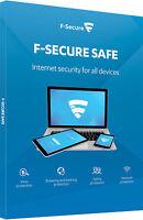 F-Secure Sécure Sécurité Internet 2017 3 Dispositifs ordinateurs PC 1 An Licence