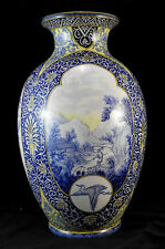 Grand vase en faïence de Sarreguemines