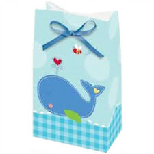 Baby Shower Ahoy Favor Bags (12) ~ Party Supplies Treat Loot Goody Nautical Blue