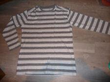 t-shirt rayé blanc gris VERTBAUDET garçon taille 14 ans