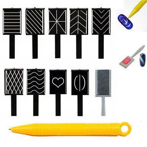 11pcs Set Magnet Magnetic Stick Pens Cat Eye Gel Polish UV LED Nail Art Manicure