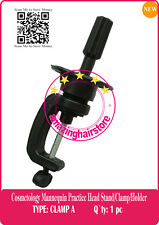 Manikin Stand Cosmetology Mannequin Training Practice Head Holder Stand Clamps